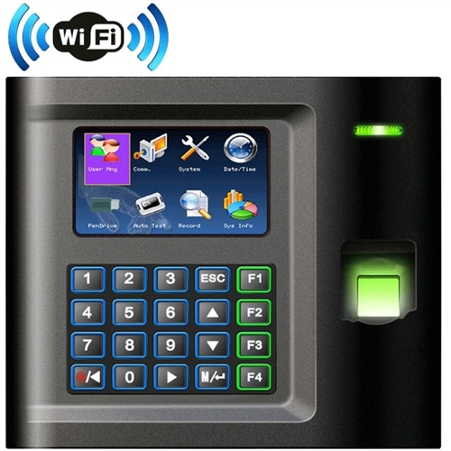 Web Based Wireless Biometric RFID Fingerprint Time System - Alliance AT10C