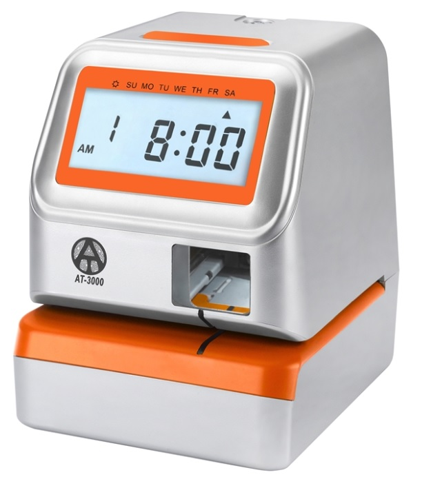 AT-3000 Electronic Time Clock Date Stamp